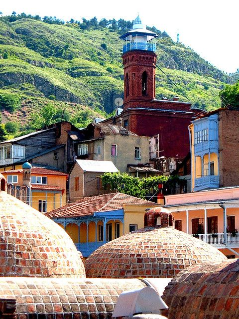 Tbilisi, Georgia. I want to visit someday! I think Georgia is such a beautiful country. Would love to learn more about their culture!