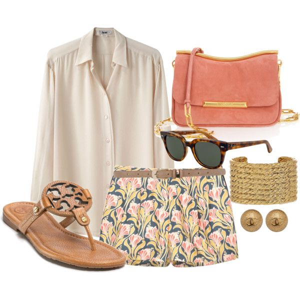 So chic: Shoes, Patterns Shorts, Colors Combos, Summer Looks, Clothing, Tory Burch, Summer Outfits, Prints Shorts, Spring Outfits