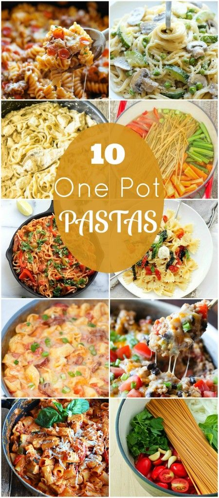 10 One Pot Pastas - Keeping dinner simple! #saucesome