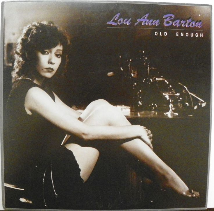 LOU ANN BARTON LP 33 RPM OLD ENOUGH ASYLUM RECORDS E1-60032  NM 1982 #BluesRock