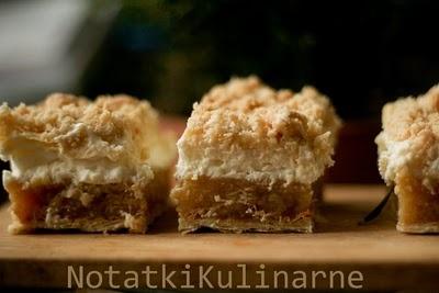 notatki kulinarne: Ciasto z rabarbarem na cieście francuskiem