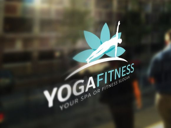 Yoga and Fitness Logo by Super Pig Shop on @creativemarket