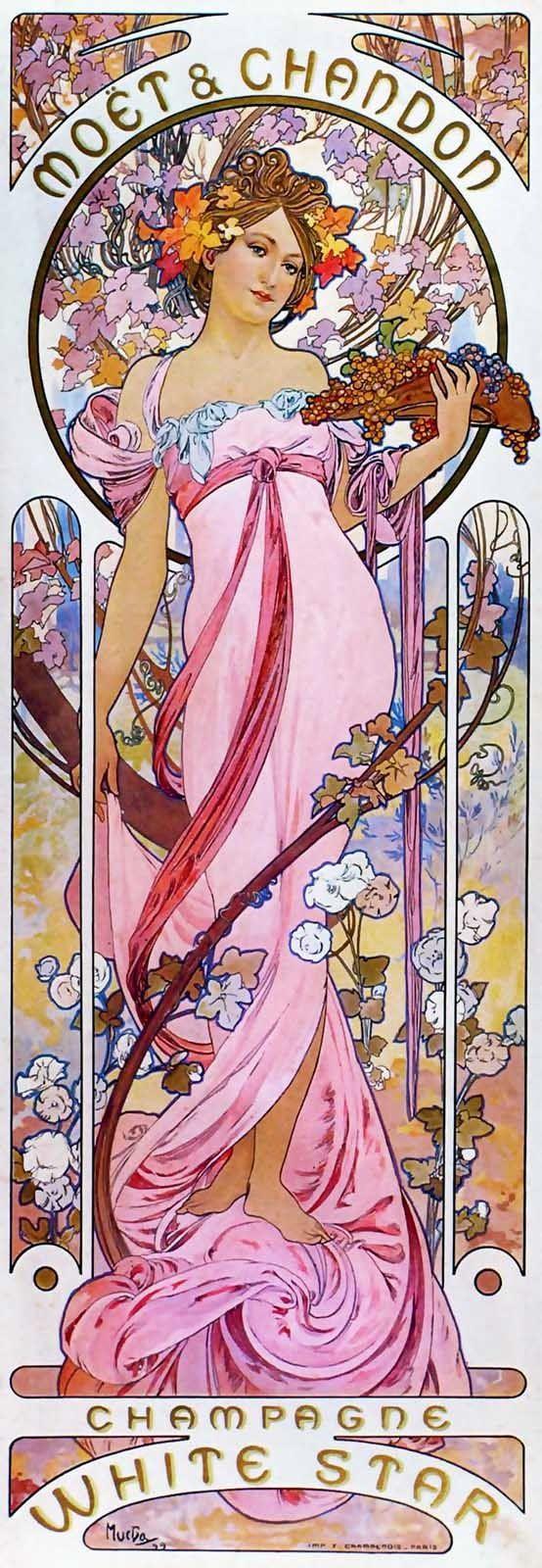 Alfons Mucha Affiche pour Moët et Chandon