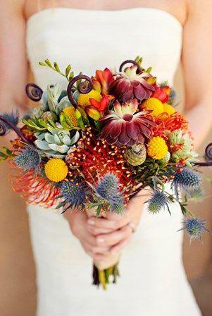 unique and colourful bouquet