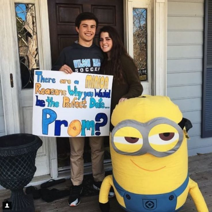 If you are in high school, chances are good that, at this point in the year, you've seen your fair share of promposals. (And, if not–just get ready. They're coming.) You've got your Disney promposals. Your TV show promposals. Your, um, extra promposals. But it is also possible that, despite seeing all of these (admittedly attention-grabbing, usually well thought-out) promposals, you still find yourself wanting something a little…different. Something that makes you laugh.
