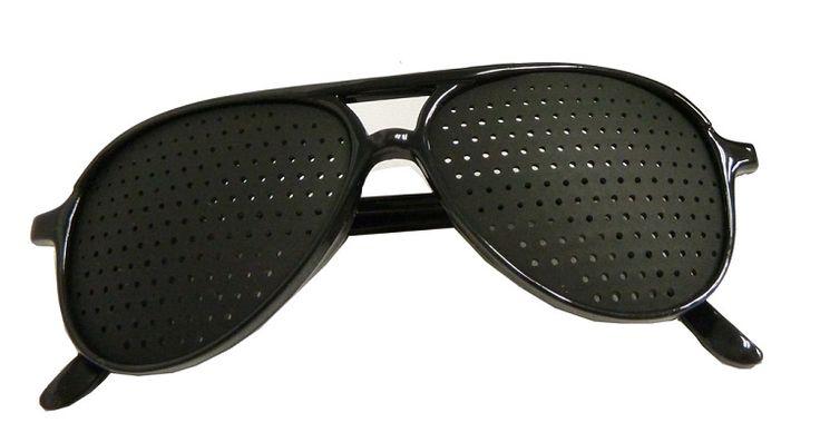 EXERCISE YOUR EYES! Pinhole glasses - aviator style