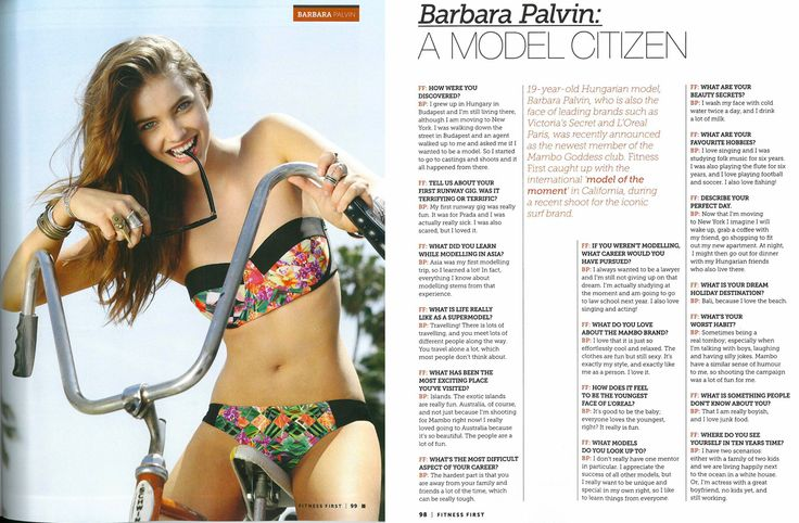 #mambogoddess, #barbarapalvin in #fitnessfirst giving us some insight into life as a model, what it's like to be a Mambo Goddess and more... #bikini #goddess #hot