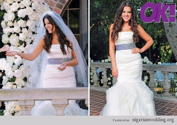 Khloe Kardashian's wedding dress