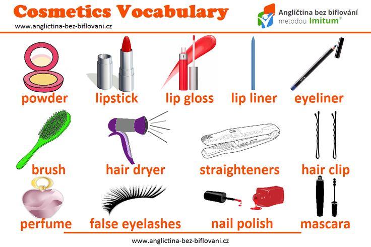 Každá žena jistě ocení dnešní přehled anglických slovíček z oblasti kosmetiky. 💄💋💅 #anglictina #slovicka #kosmetika