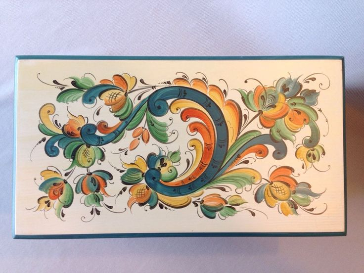 Norwegian Rosemaling Vintage Box by Vesterheim Gold Metal Winner Nancy Morgan…