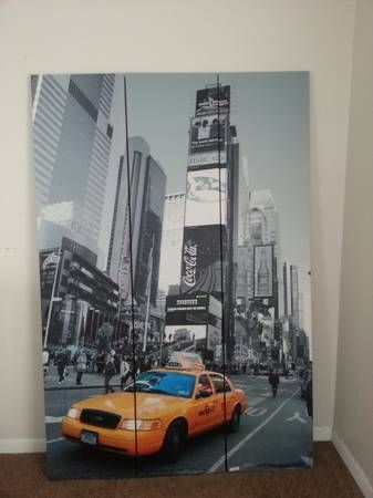 tall double sided ny taxi room divider screen 6 panels