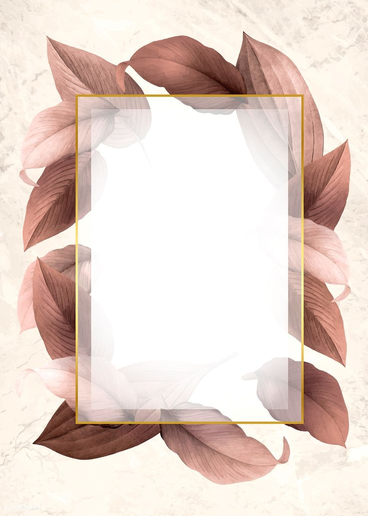Golden frame on a brown leafy background vector | …