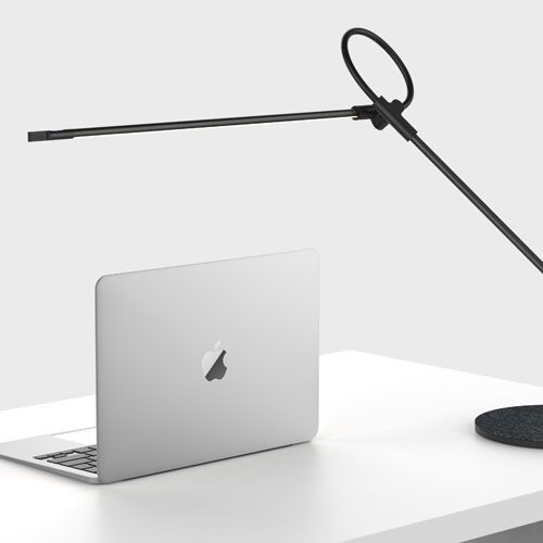 This sleek, minimalist LED table lamp is highly efficient and adjustable, making it the ultimate in task lighting. #customlighting #tablelamp #sleek #LED #lighting #minamalist