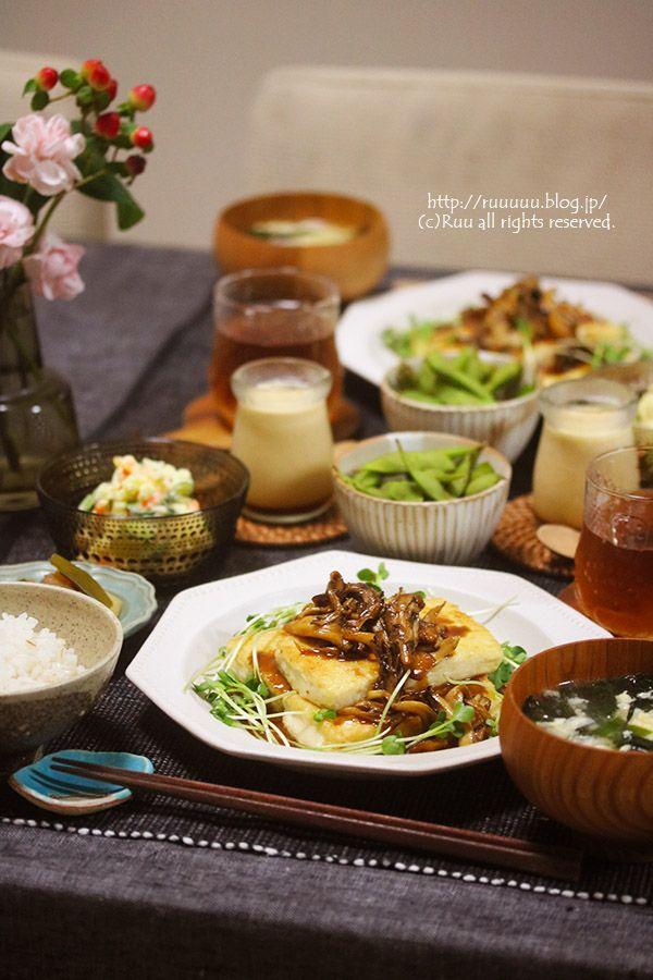 献立 照りマヨ豆腐ステーキ 3年ぶりの復活劇 豆腐ステーキ 晩