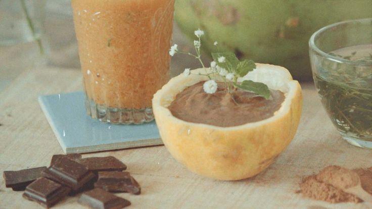 Mousse de chocolate vegano só precisa de um liquidificador para ficar pronto!
