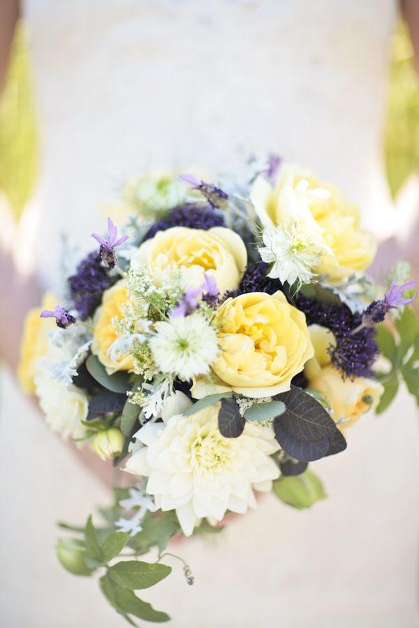 Yellow And Purple Boquet