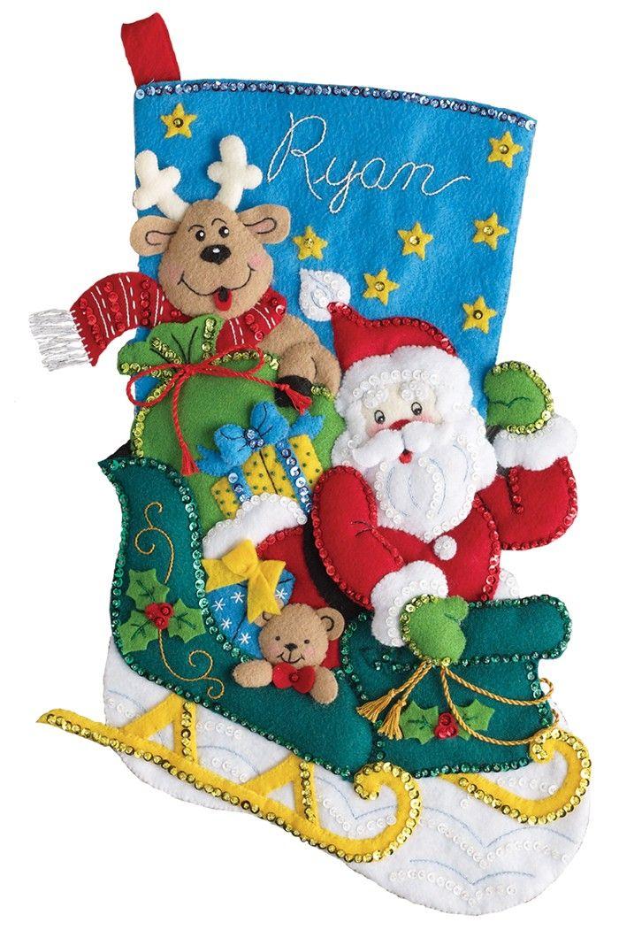 19 best bucilla felt christmas ornaments images on pinterest santas helper bucilla christmas stocking kit solutioingenieria Images