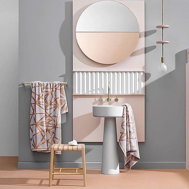 Colour perfection to match trends of 2017 👌🏻📷via @loveninnho #trends #interior #bathroom #interiordesign #inspiration #nudy #soft #pink #grey #inspiration #blog #blogger