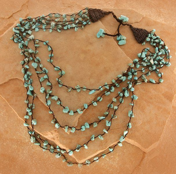 "5 Strand Necklace - Smith And Western  ""Warehouse"""
