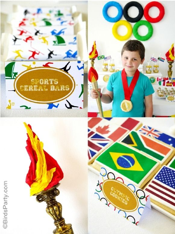 Party Printables | Party Ideas | Party Planning | Party Crafts | Party Recipes | BLOG Bird's Party: Going for Gold: Olympics Inspired Party Ideas and NEW Printables!