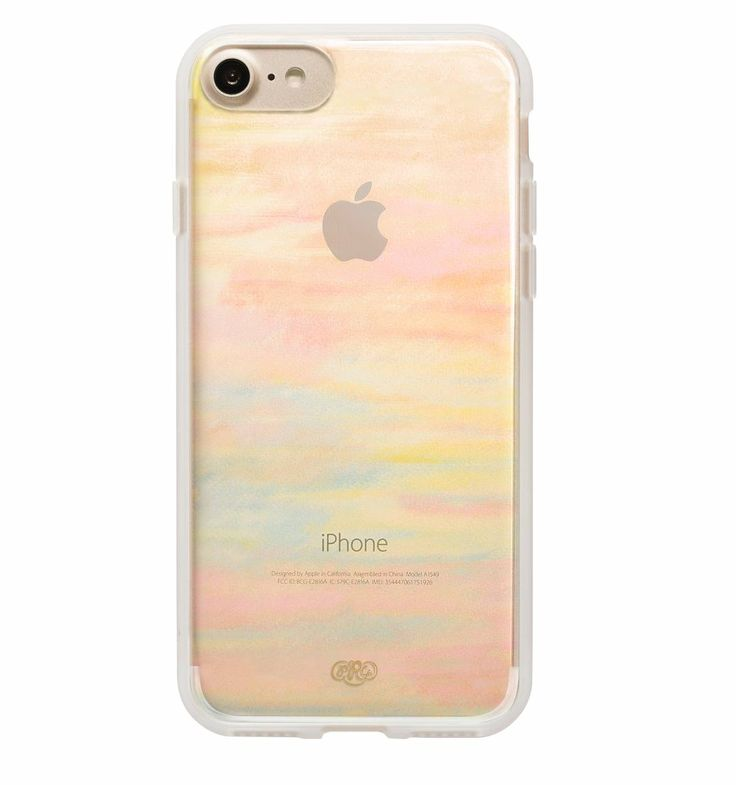 Clear Watercolor Protective iPhone Cover