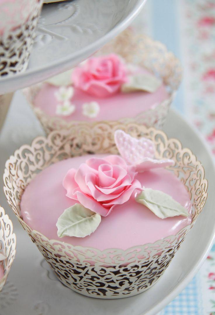 Cakes Haute Couture - Pasteles de Alta Costura: Cupcakes de Alta Costura® - Receta de Cupcakes de Cerezas