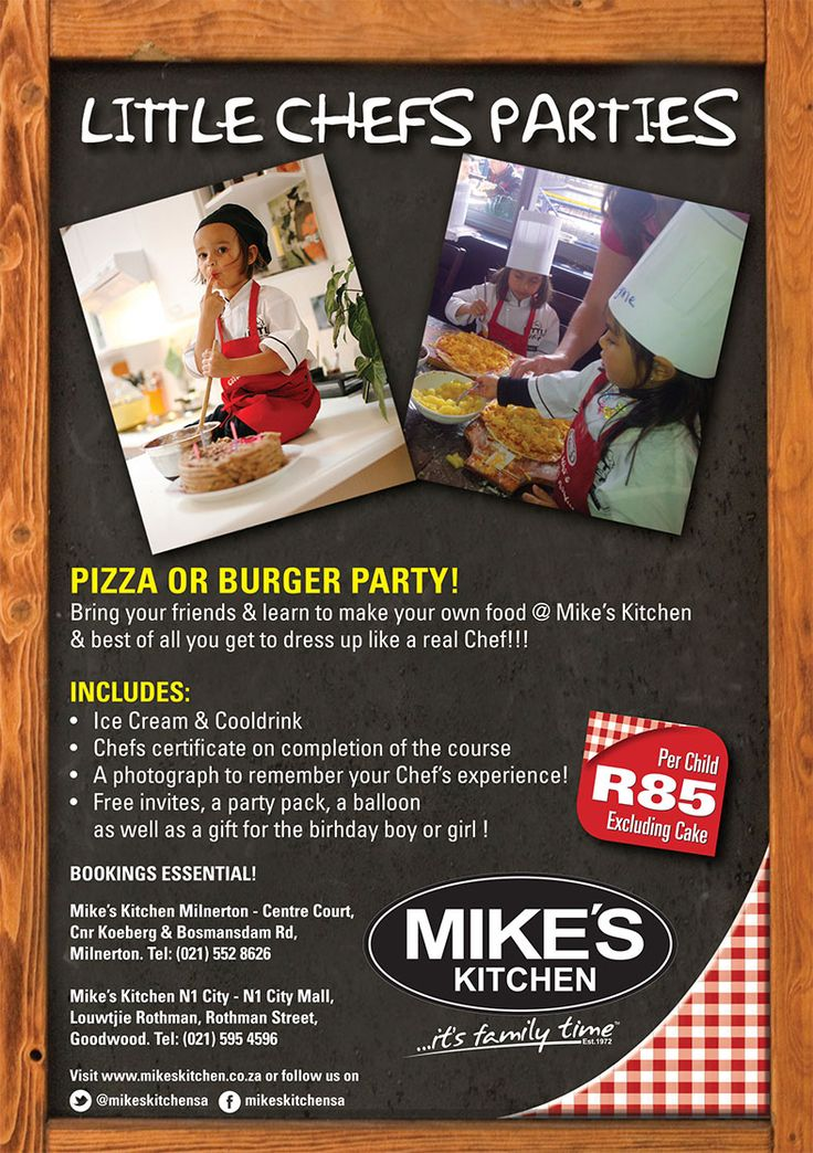 Mike's Kitchen Milnerton & N1 City Little Chefs Parties