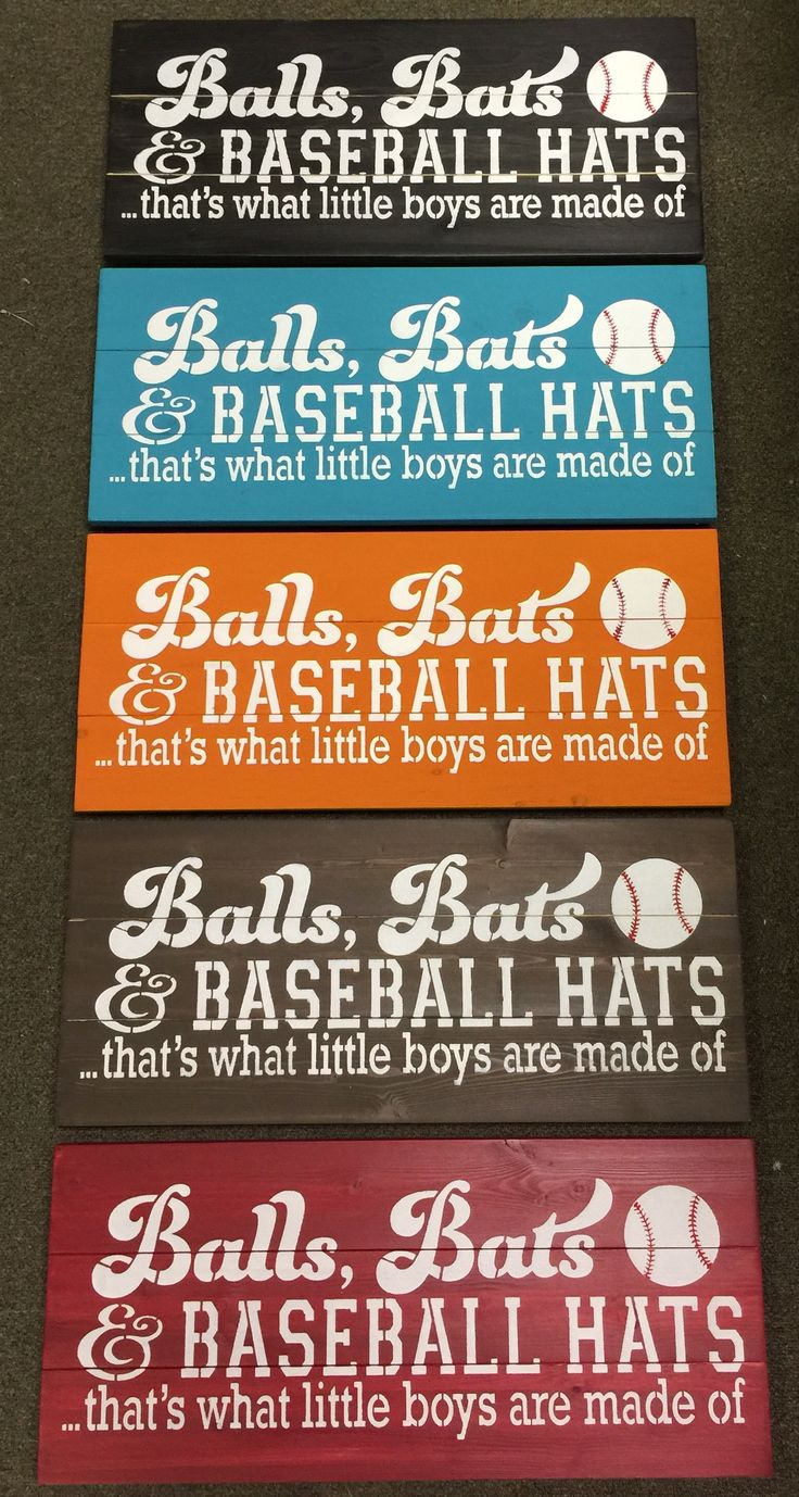 Balls Bats and Baseball Hats $29.99 #signsofvinyl