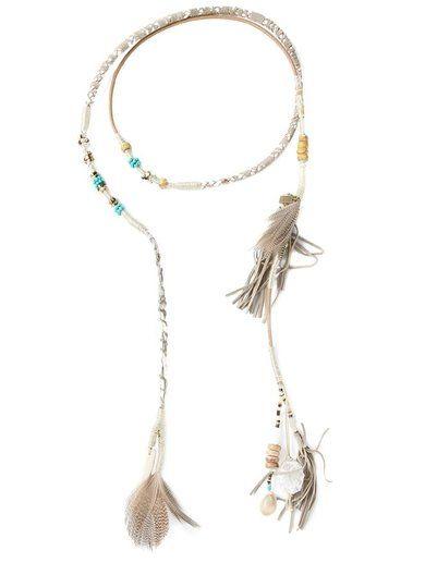 Etro Long Wrap Feather Tassel Necklace http://sellektor.com/all?q=etro