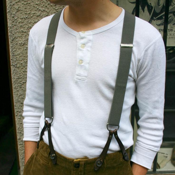 Suspenders Gray Levi's Vintage Clothing