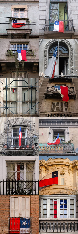 Fiestas Patrias | Windows & Chilean Flags Full post on photoblog: http://callechile.blogspot.cl/2015/09/fiestas-patrias-2015.html
