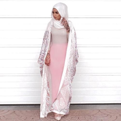 blush pink abaya hijab- Eid hijab ready to wear http://www.justtrendygirls.com/eid-hijab-ready-to-wear/