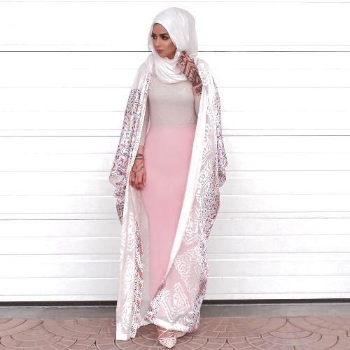 blush pink abaya hijab- Eid hijab ready to wear http://www.justtrendygirls.com/eid-hijab-ready-to-wear/