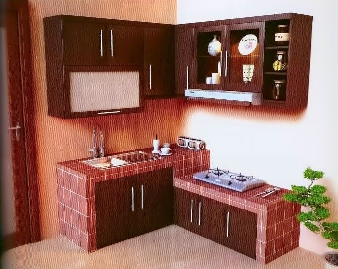 Small Kitchen:How To Make Small Kitchen Space Appear More Useful Design  Small Kitchen With