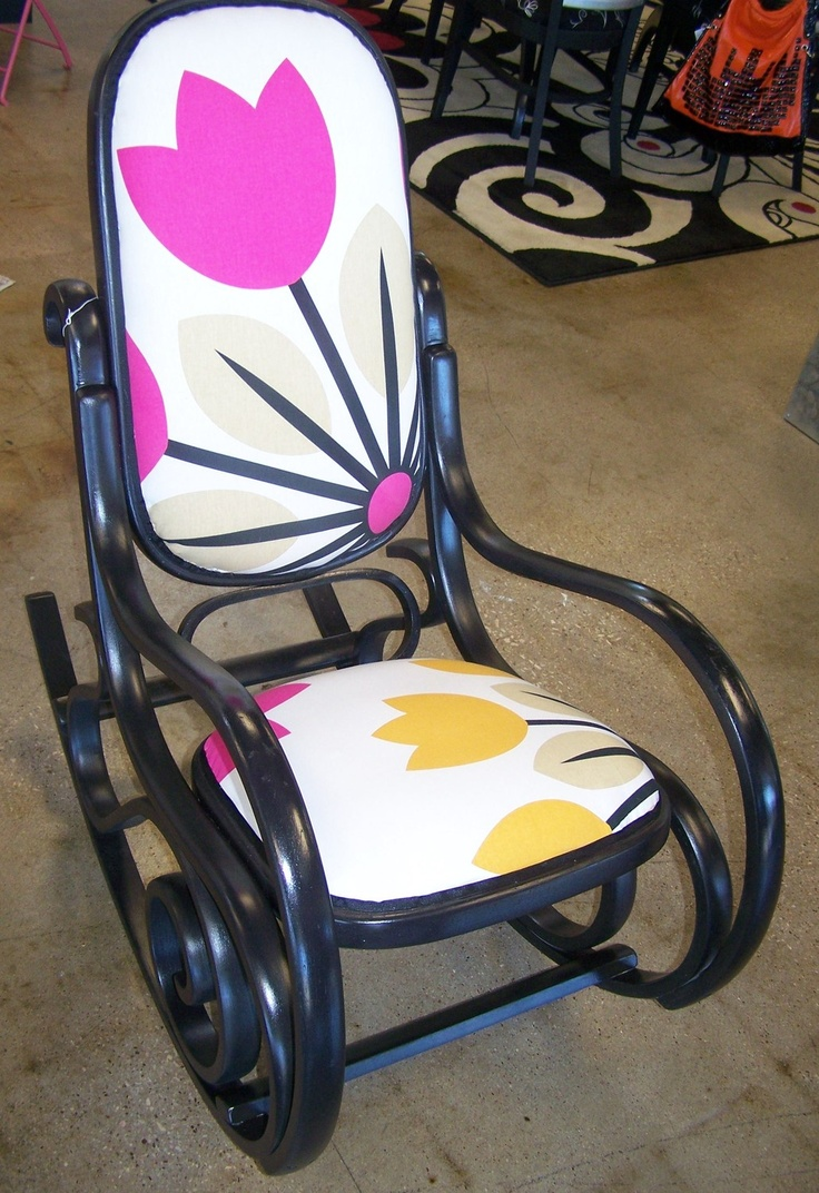 Bentwood rocking chair makeover - Chartreuse Garage Bentwood Rocker Marsella 165 00 Via Etsy Chair Makeoverfurniture