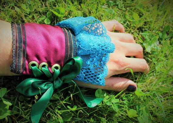 Mad Hatter Accessories. Custom Hand Made Cuffs for Wrists or Ankles.