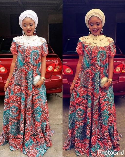 Classic Turtle Neck Ankara Gown Styles For Ladies Ankara And Lace