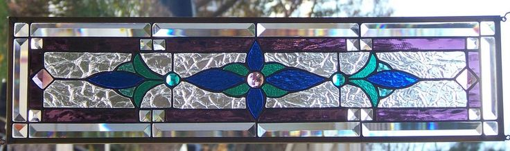 Stained Glass Window Hanging 25 5/8 X 7 1/2 by StevesArtGlass on Etsy https://www.etsy.com/listing/480006672/stained-glass-window-hanging-25-58-x-7