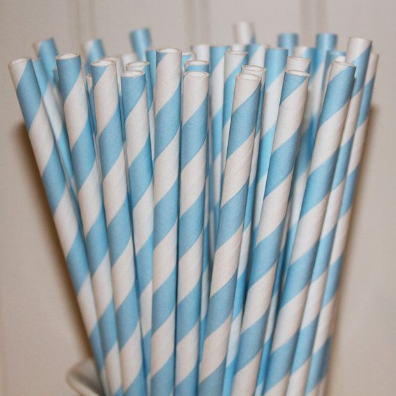 30 Powder Blue Paper Straws   Baby Shower  It's by LolaLovesAparty, $5.00Baby Blue, Birthday, Twilight Parties, Parties Supplies, Stripes Paper, Paper Straws, Blue Stripes, Powder Blue, Baby Shower