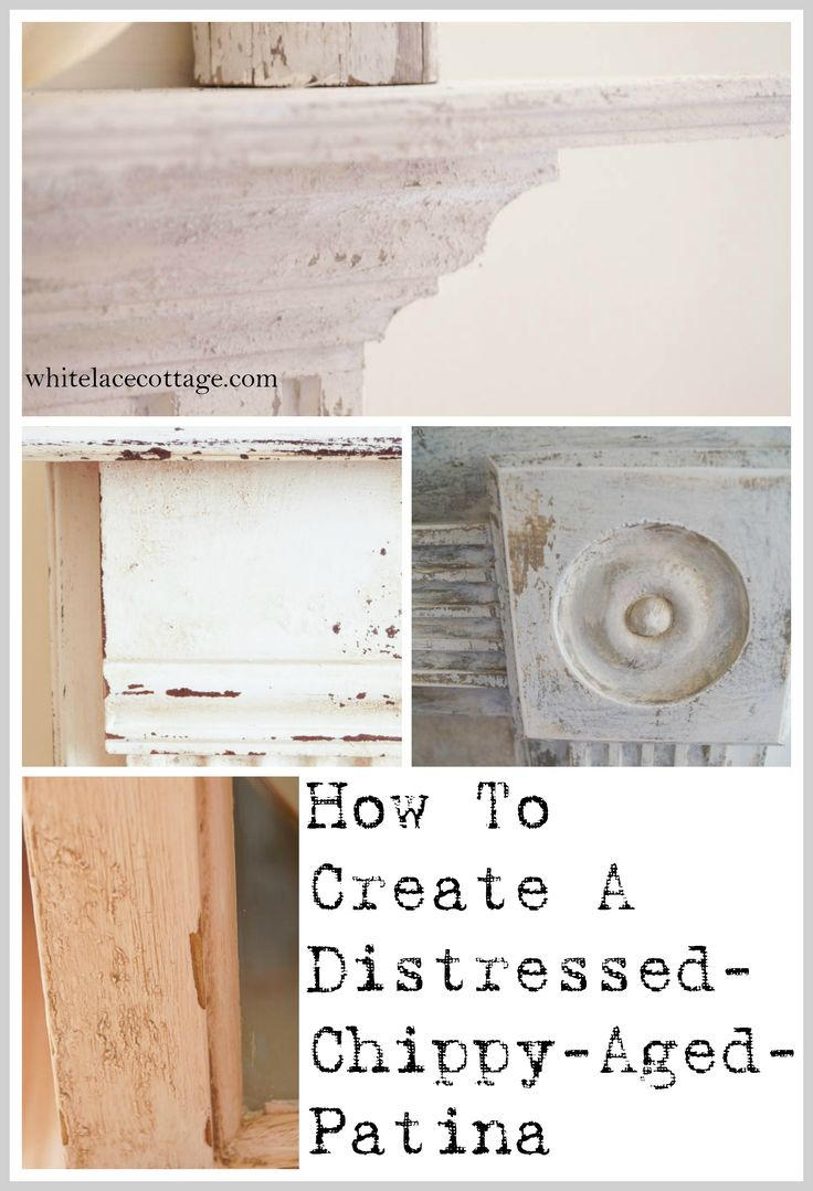 Creating A Layered Distressed Aged Patina via @whitelaceanne