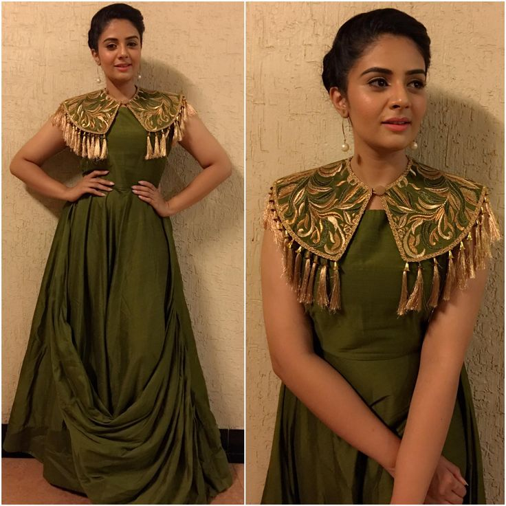 Look of the day! Classy and perfect evening gown! Outfit by Rekhas Houseofcoutures Kirthana SunilMakeup- PremHair- Sadiq! 14 May 2017