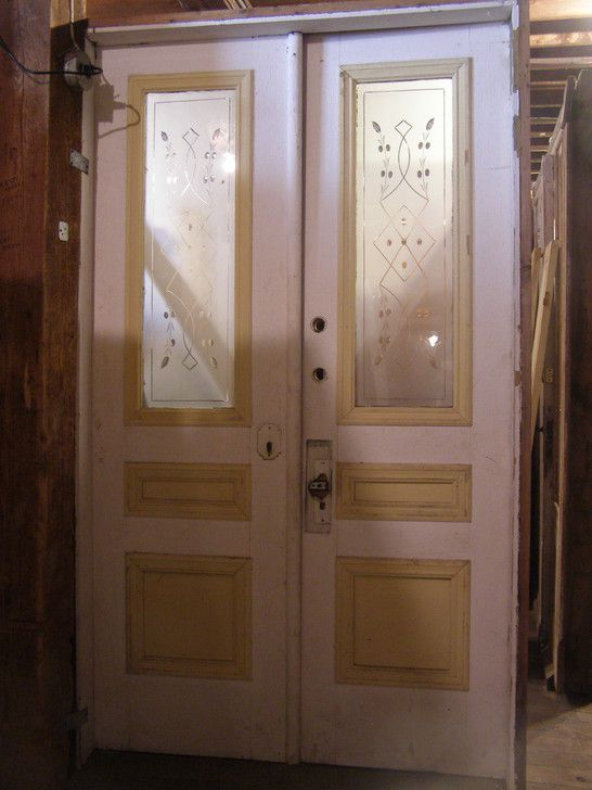 Good 48 inch exterior door with 48 inch french doors for Old wood doors salvaged