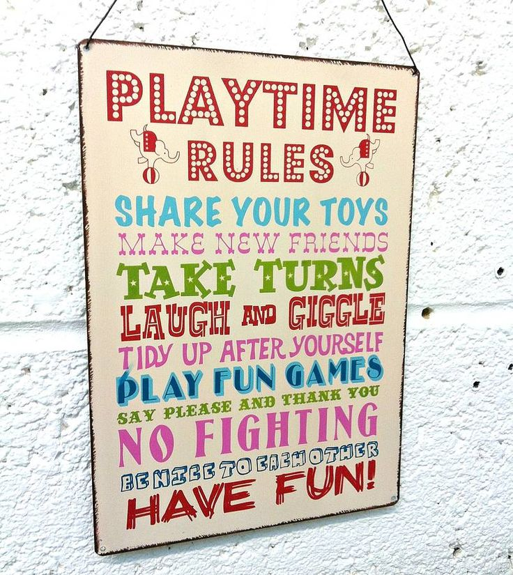 'playtime rules' hanging metal sign by the little picture company | notonthehighstreet.com