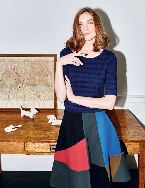 Colorblock patchwork circle skirt NYC Recessionista