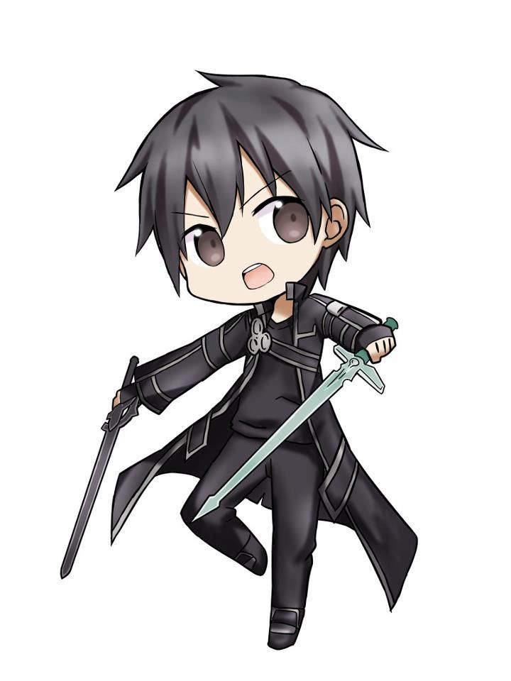 chibi Kirito from sword art online
