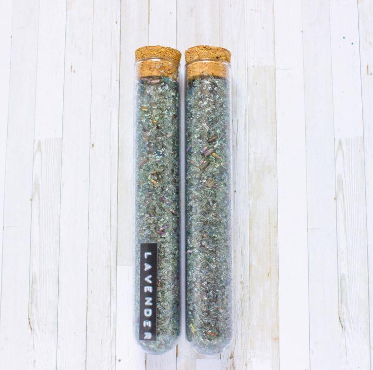 Lavender Bath Salt // Wedding Favor, Spa Gift, Test Tube, Bridal Shower Favor, Purple Bath Salt, Dry Lavender Bud, Floral Essential Oil Bath de la boutique SomniumBoutique sur Etsy