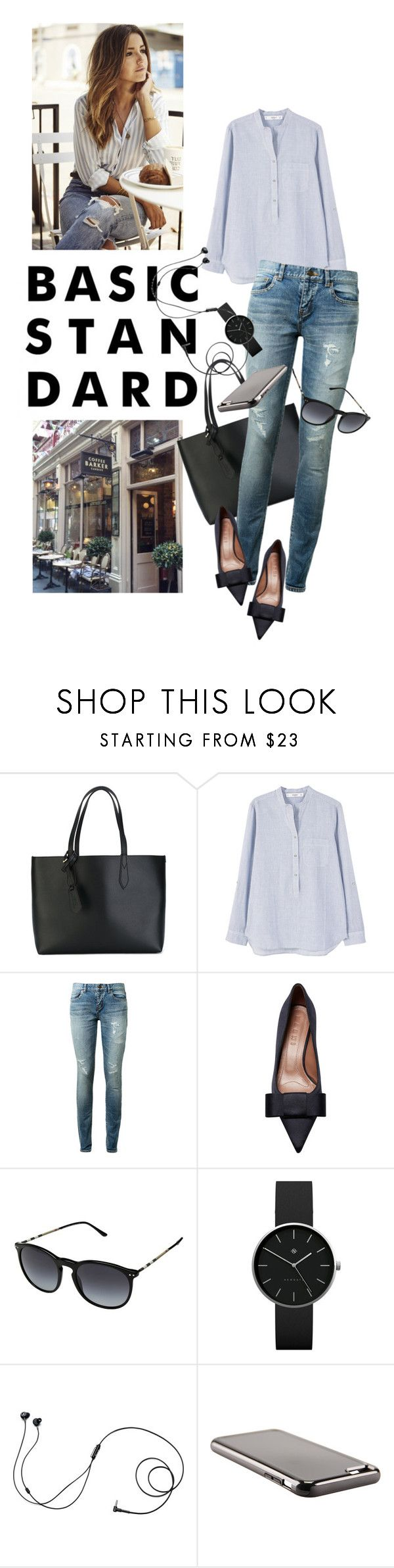 """""""BasicStandard"""" by reginakos ❤ liked on Polyvore featuring Barker, Burberry, MANGO, Yves Saint Laurent, Marni, Newgate, Marshall, SimpleOutfits, CasualChic and StreetChic"""