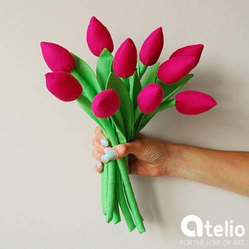 Bawełniane tulipany od Jobuko. Do kupienia w atelio.pl