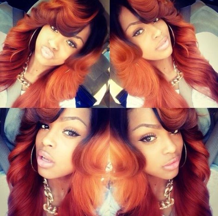 Reddish Orange Hair Is Nice Hair And Makeup Hair