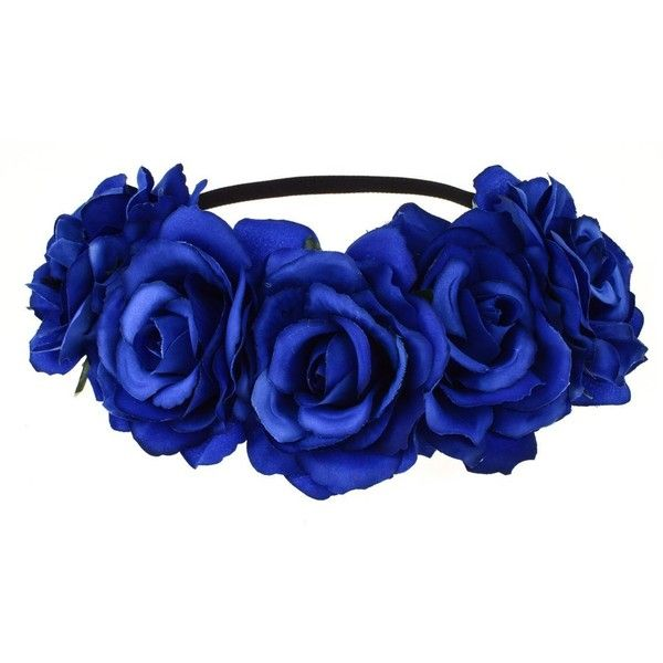 Dreamlily Women s Hawaiian Stretch Flower Headband for Garland Party...  ( 9.99) ❤ liked on Polyvore featuring accessories 9ede03a969a